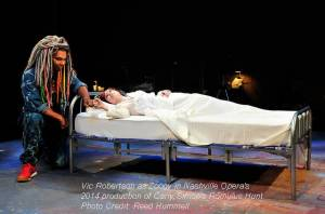 Vic Robertson as Zoogy in Nashville Opera's 2014 production of Carly Simon's Romulus Hunt.