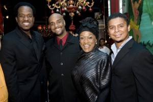Renowned Opera Singer Jessey Norman with L to R: James Berger,  Duane A. Moody, Victor Robertson.
